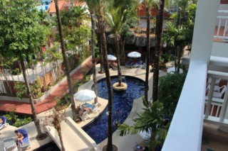 Sunset Beach Resort - Pool bird view 2